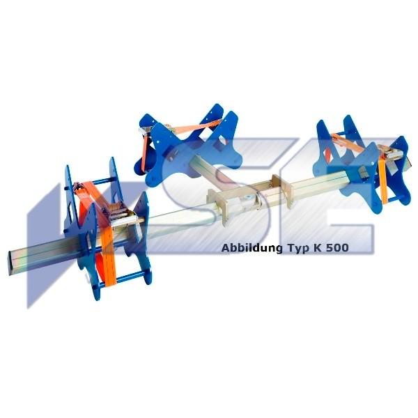 Caldertech Rohrhaltevorrichtung Typ K 63-250mm - 3 Wege Ausführung