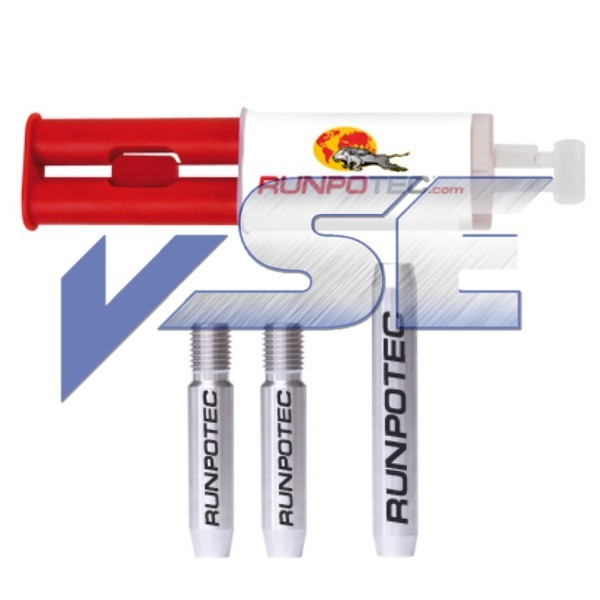 RUNPOTEC Zubehör für Glasfaserstab/Reparatur-Set für Ø 9 mm