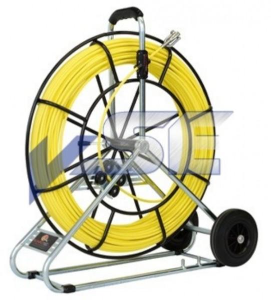 RUNPOTEC Glasfaserstab/Röhrenschlange Ø 9 mm mit Auslaufbremse und Rollenzählwerk