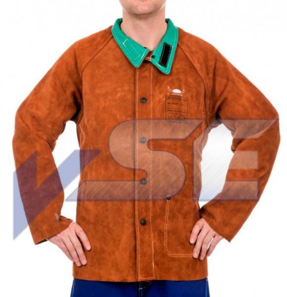 Weldas Lava Brown 44-7300 Schweisser Rindspaltleder Jacke