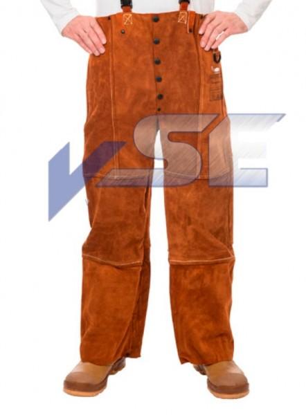 WELDAS Lava Brown 44-7440 / 7600 Schweisser Rindspaltleder Bundhose