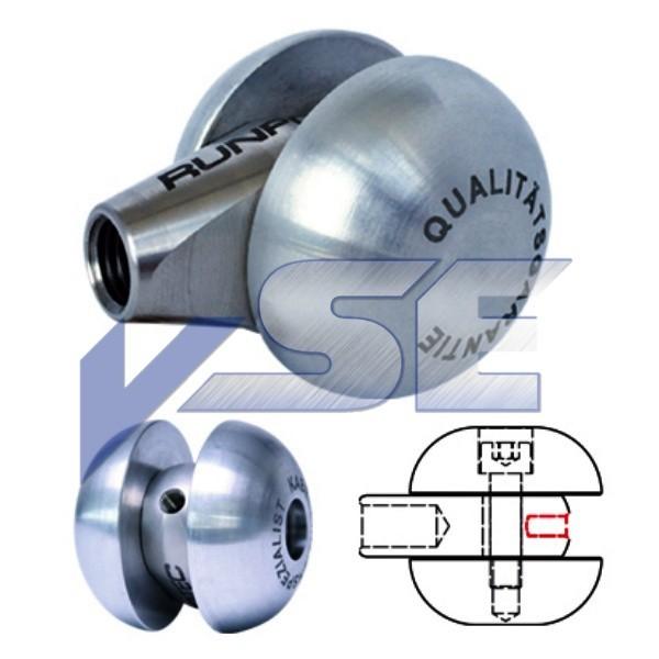 RUNPOTEC Zubehör für Glasfaserstab 11 mm / Laufrolle