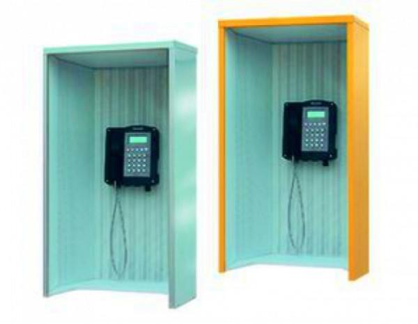 Telefon-Schallschutzhauben Mod. 404, Edelstahl
