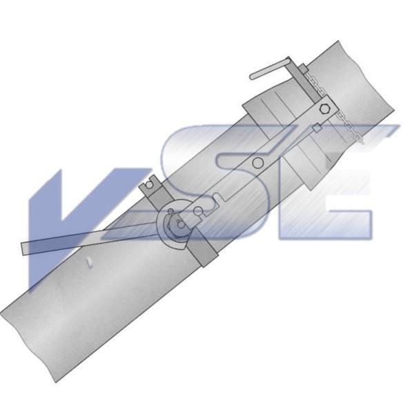 Verlegegerät für Muffenrohre eindimensional