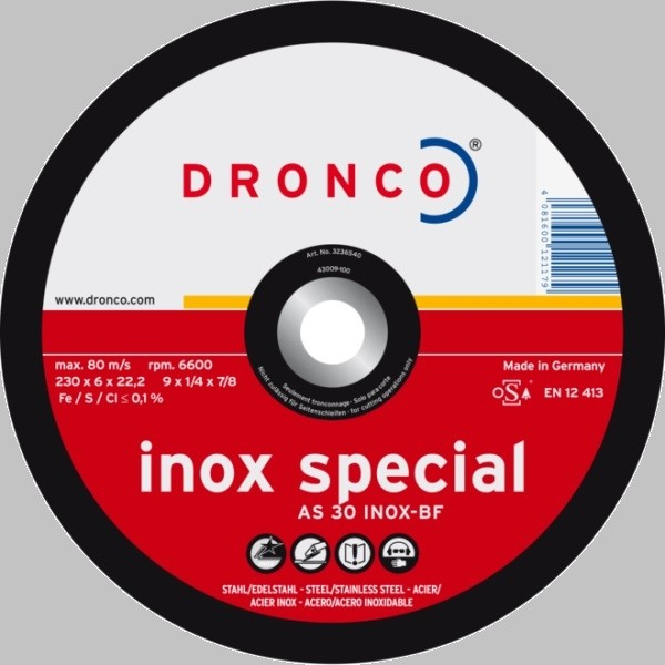 Dronco Schruppscheibe AS 30 S INOX Special rot
