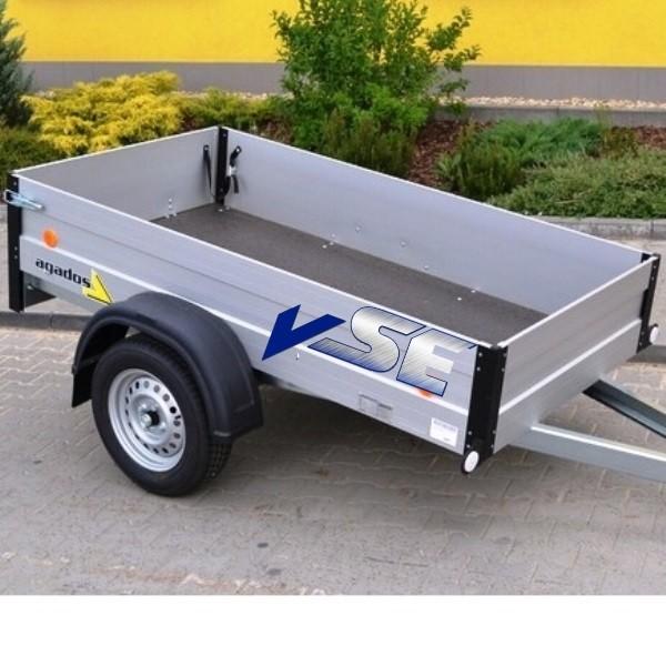 Agados PKW Anhänger offener Kasten 750kg mit Aluaufbau