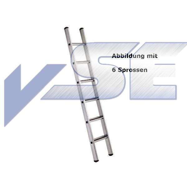 Zarges Anlegeleiter Z500 Gebördelte Stufen 8 Sprossen