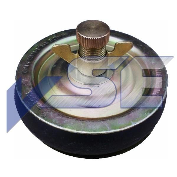 Rohr - Absperrscheiben Rohrstopfen mit 1 Dichtring Ausführung in Stahl: