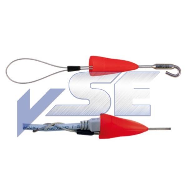 RUNPOTEC Kabelziehschlaufe mit Schutzkappe und Haken SET