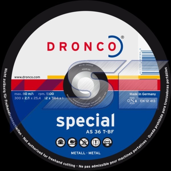 Dronco Schruppscheibe AS 36 T special 350 x 3,0 x 25,4