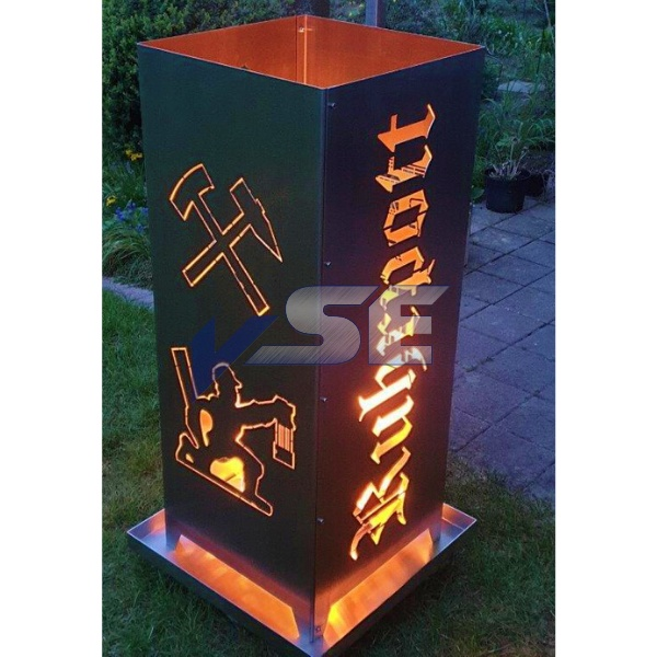Feuersäule Ruhrpott - Stahl natur