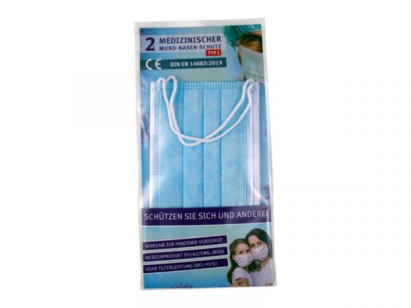 2er-Pack Medizinischer Mund-Nasen-Schutz, Typ I