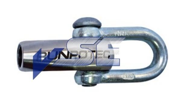 RUNPOTEC Zubehör für Glasfaserstab 11 mm / Schäkel