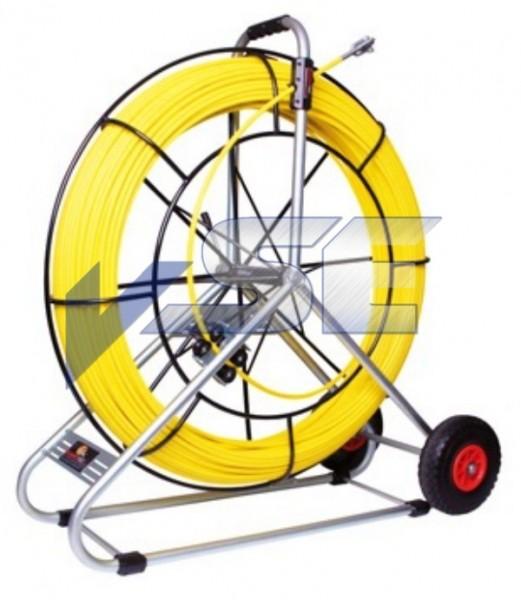 RUNPOTEC Glasfaserstab/Röhrenschlange Ø 11 mm mit Auslaufbremse und Rollenzählwerk