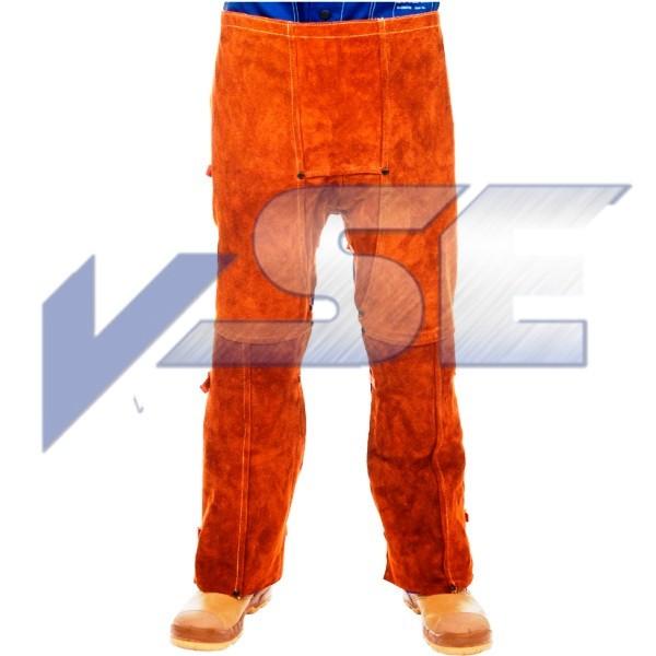 WELDAS Lava Brown 44-7440 102cm länge spalt Rindleder Beinschürze