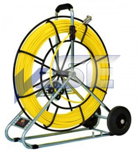 RUNPOTEC Glasfaserstab Röhrenschlange Ø 7,5 mm mit Auslaufbremse und Rollenzählwerk