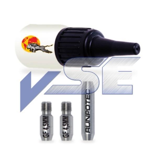 RUNPOTEC Zubehör für Glasfaserstab/Reparatur-Set für Ø 4,5 mm