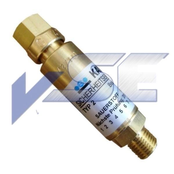Kayser GCE Sicherungseinrichtung Gebrauchstellenvorlage Sauerstoff
